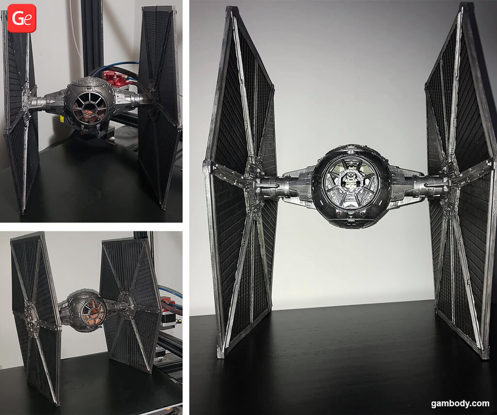 TIE Fighter popular 3D printing models STLs Star Wars 2019