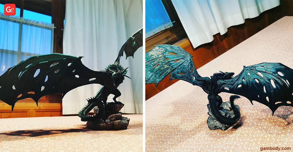 3D printing models trends of November Viserion dragon