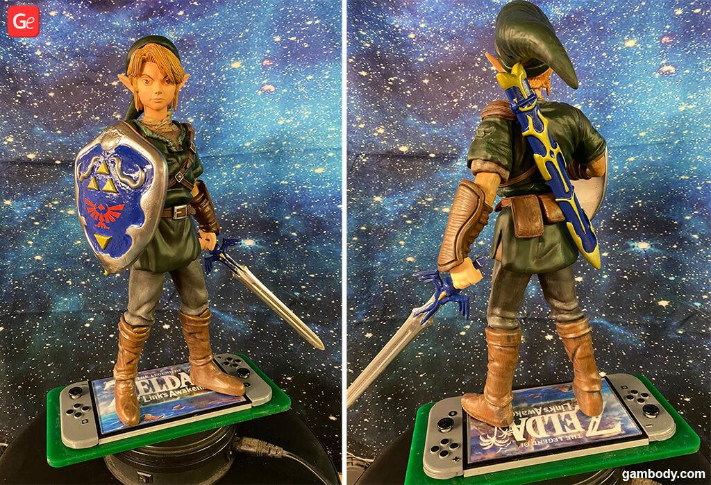 Christmas gift Zelda Link figure 3D printed