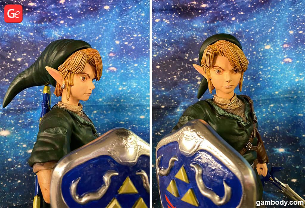 Legend of Zelda Link 3D printed model painting guide