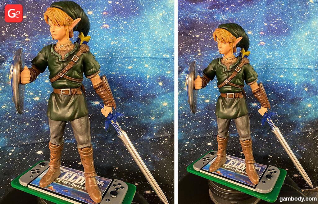 Figurine of Link from The Legend of Zelda computer game 3D printed model