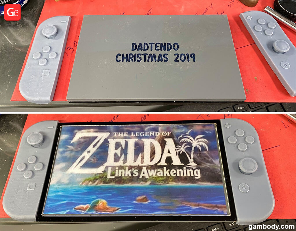 Nintendo switch base for Zelda Link figure 3D print