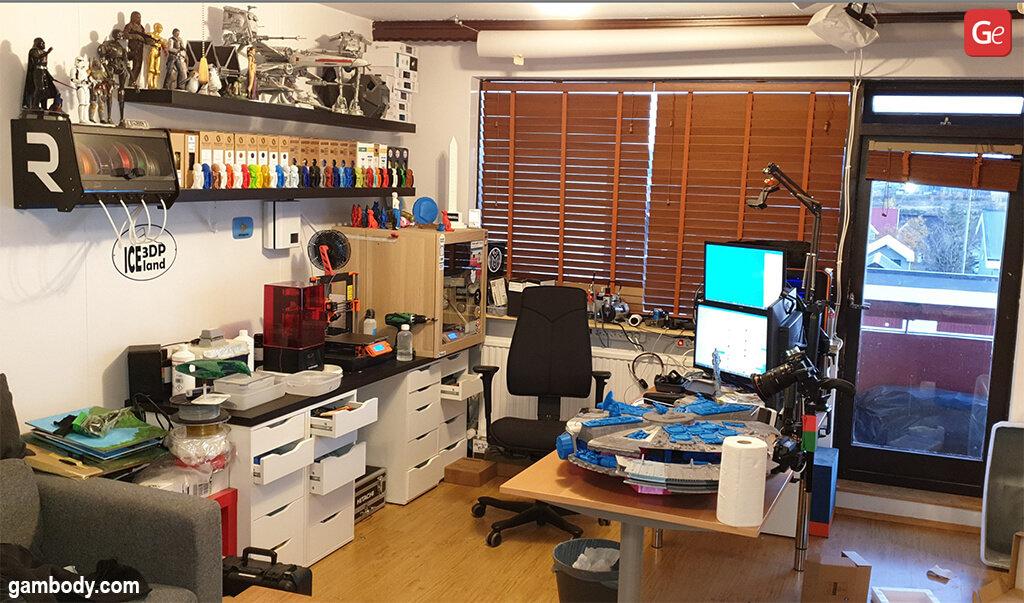Fun things to do at home 3D print Millennium Falcon Star Wars