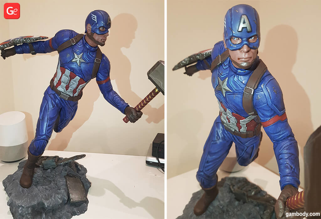 Captain America superheroes 3D printing models STL