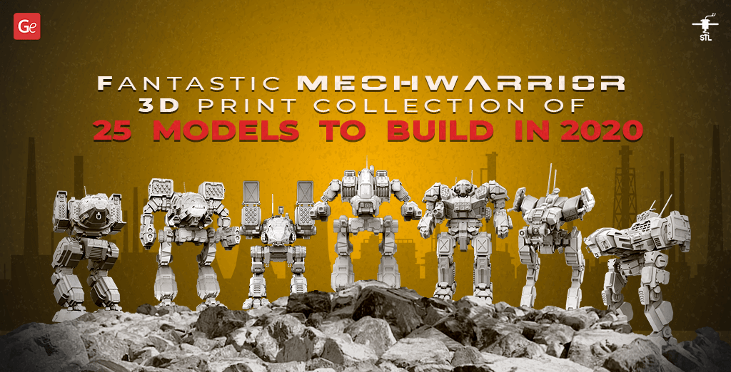 MechWarrior 3D print collection of robots and machines