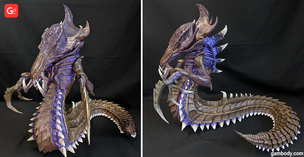Hydralisk model 3D printed Zergs with STL files