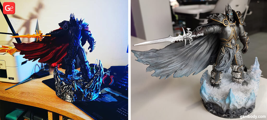 Lich King WoW figurine 3D printed