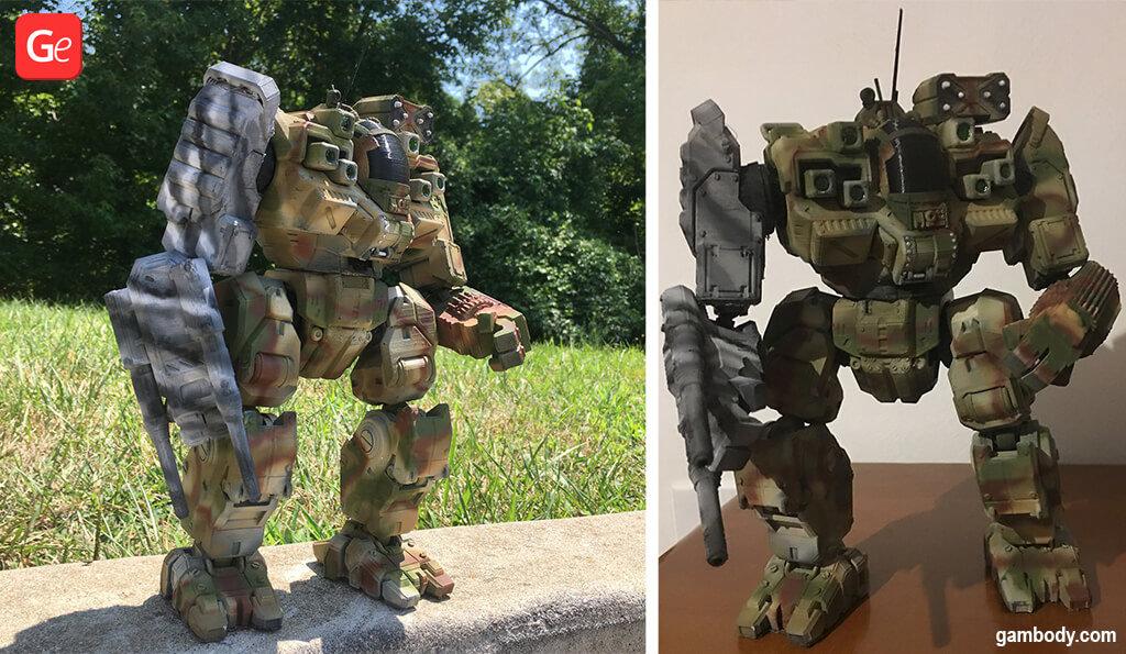MechWarrior BattleMaster 3D printed model STL