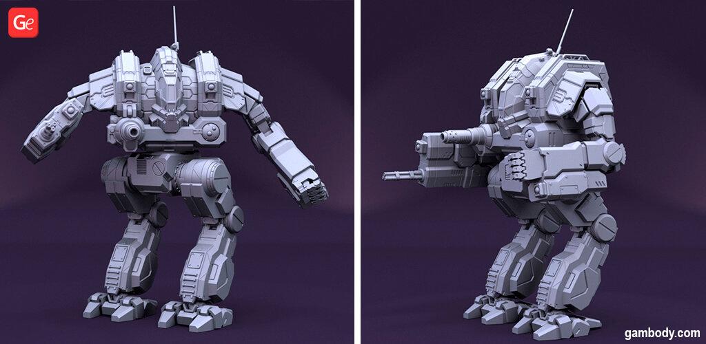 MechWarrior Cataphract robot to 3D print