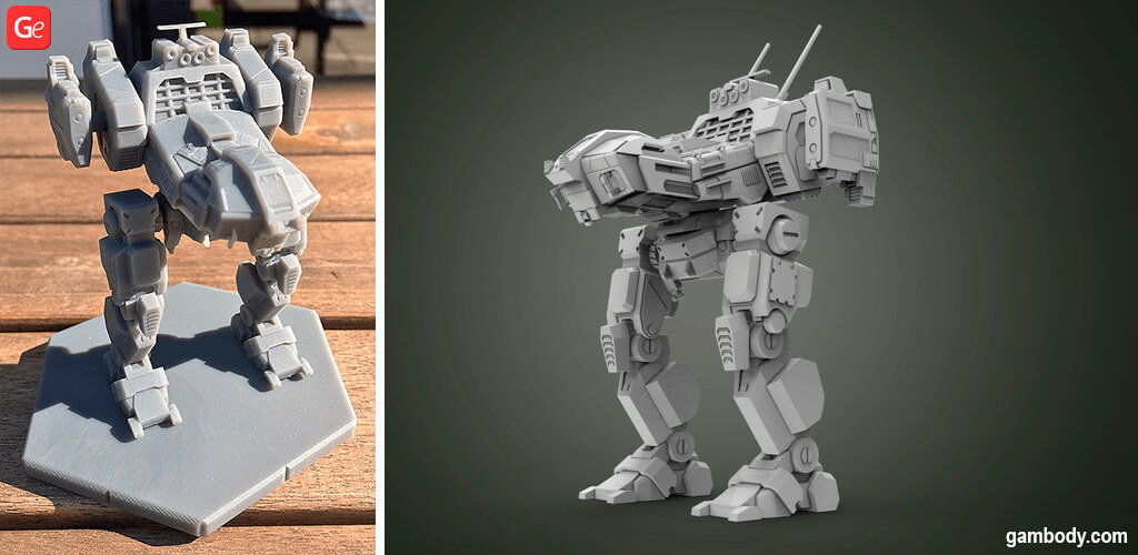MechWarrior Jenner MWO STL files to 3D print
