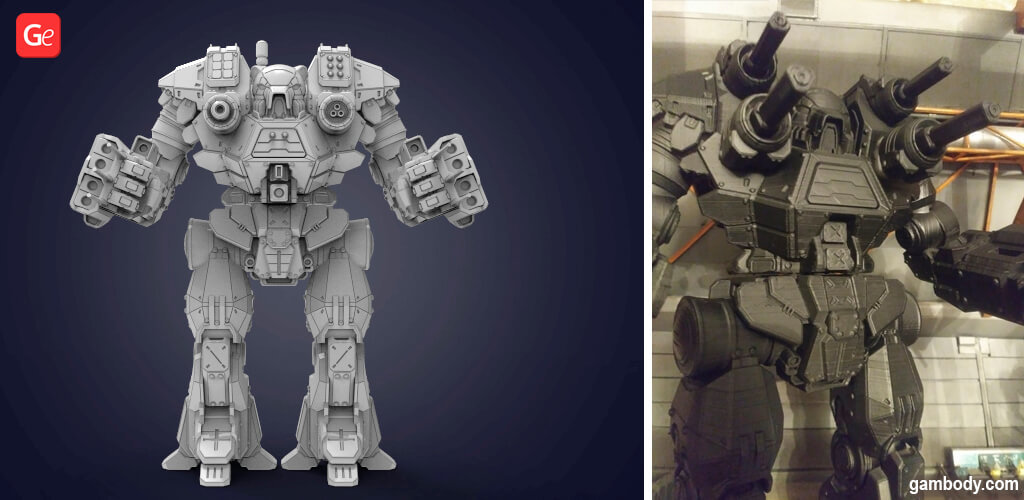 MechWarrior Kodiak model to 3D print