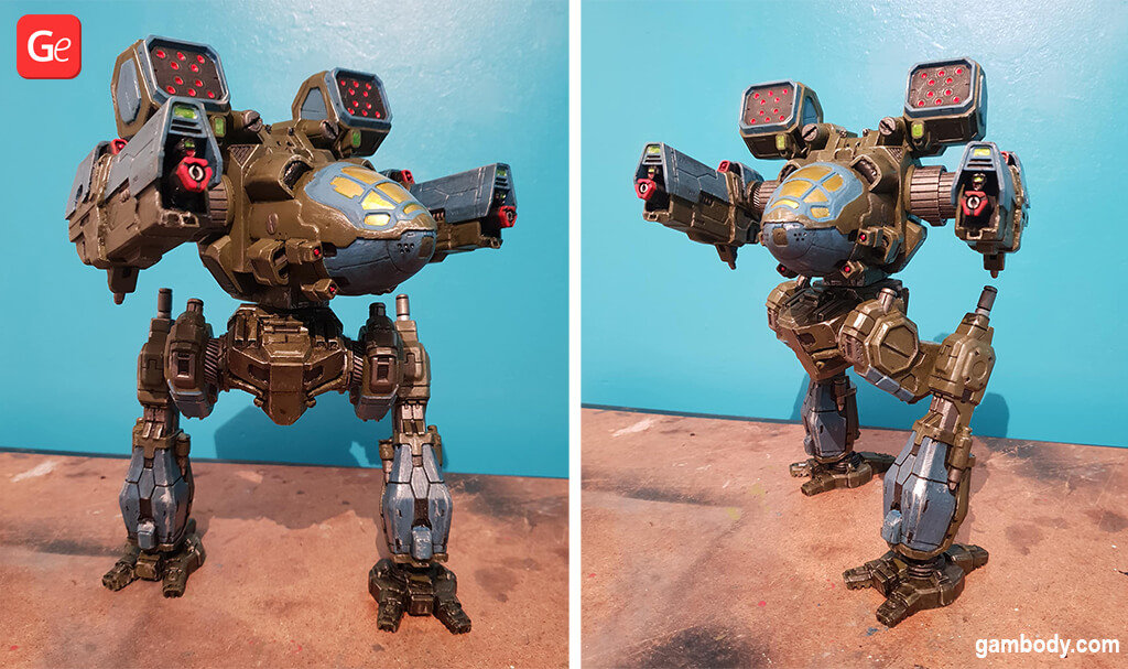 MechWarrior Mad Cat II model to 3D print STL files
