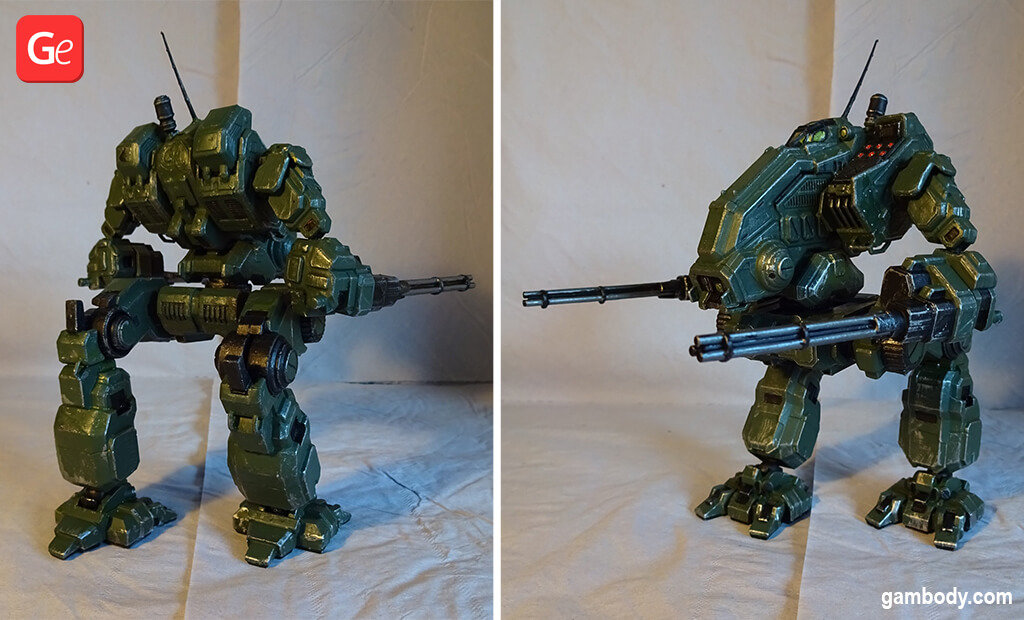 MechWarrior Mad Dog OmniMech figure to 3D print