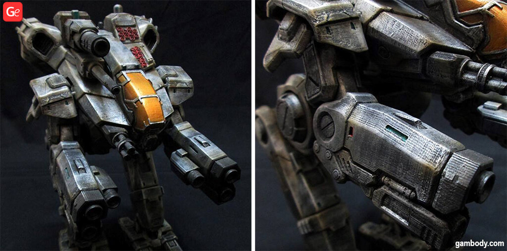 MechWarrior Marauder model to 3D print