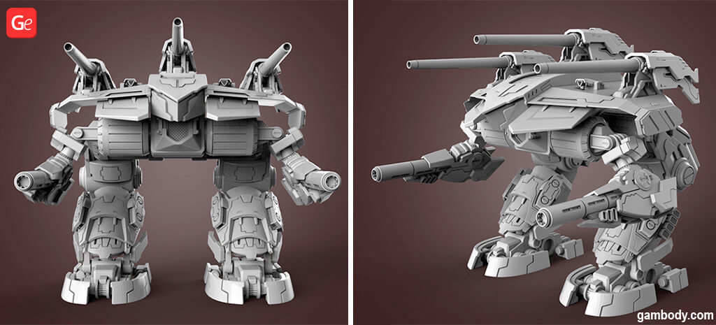 MechWarrior Omega STL files to 3D print