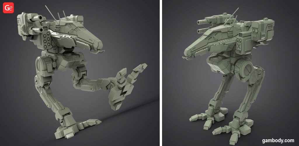 MechWarrior Raven model to 3D Print STL files