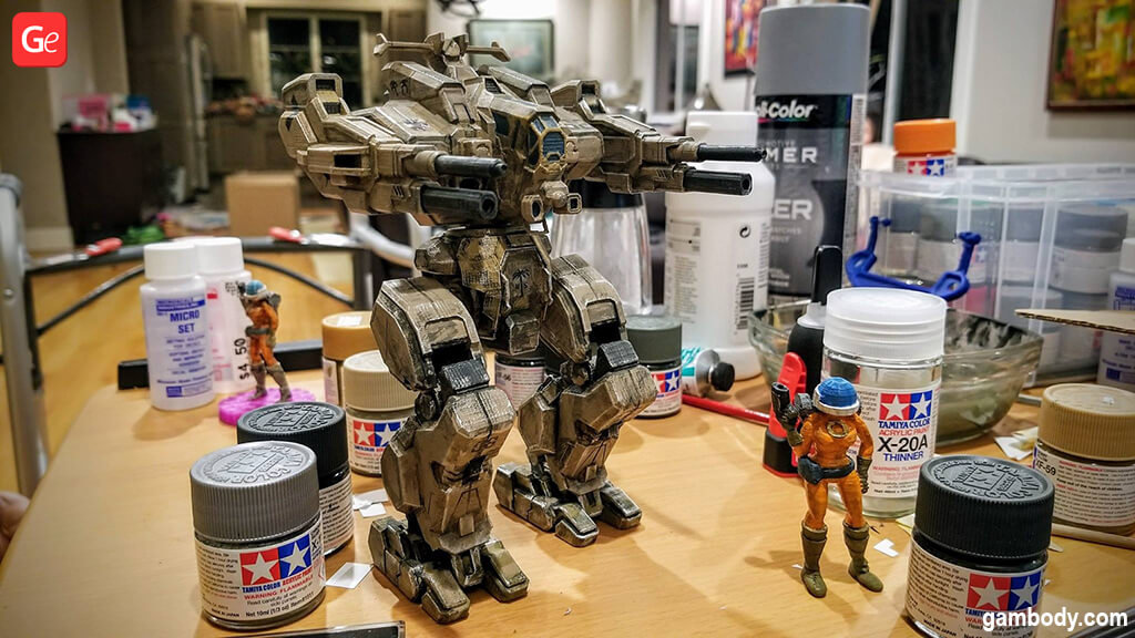MWO Rifleman 3D printed MechWarrior with STL files