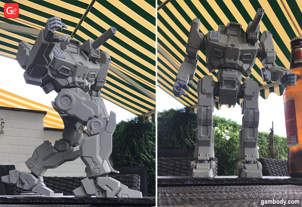 MechWarrior Shadow Hauk model to 3D print