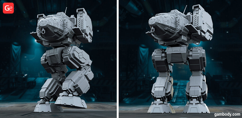 MechWarrior Online Stalker model to 3D print