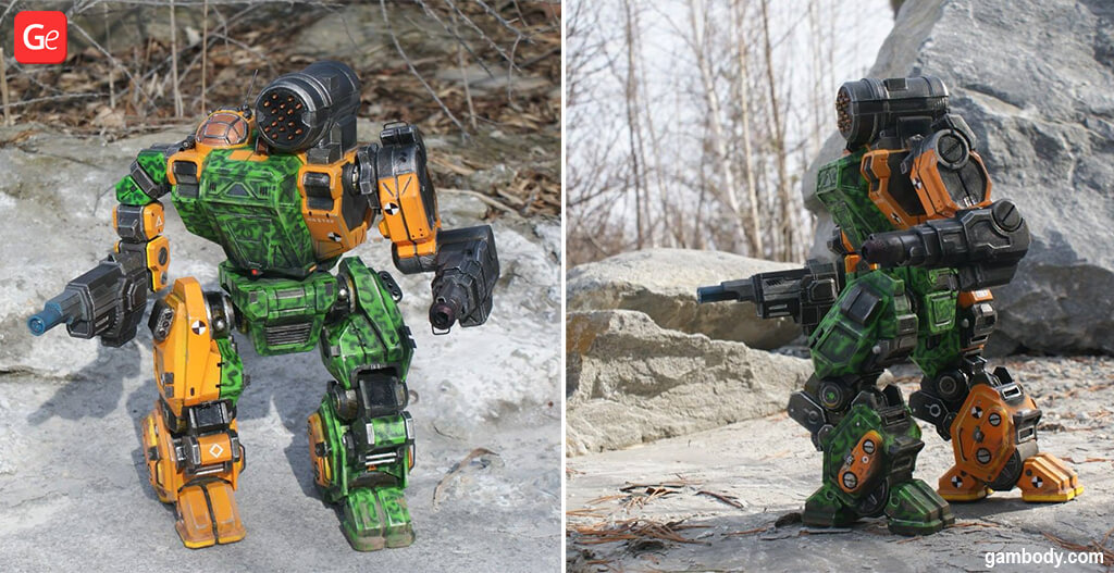MechWarrior Summoner or MWO Thor robot to 3D print
