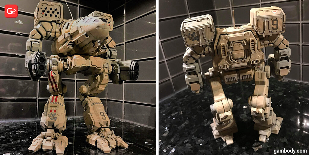 MechWarrior Timber Wolf model to 3D print STL files