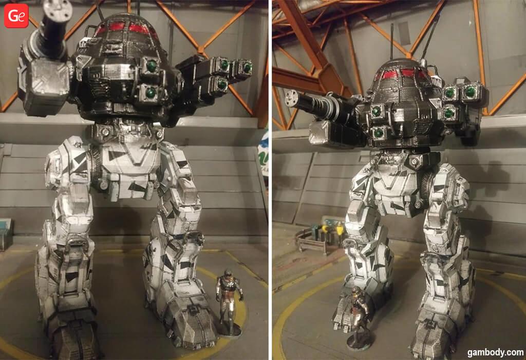 MechWarrior UrbanMech robot to 3D print