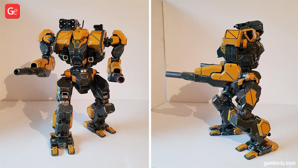 MechWarrior Warhammer robot to 3D print STL files