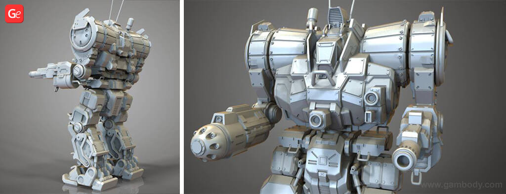 MechWarrior Zeus model to 3D Print with STL files