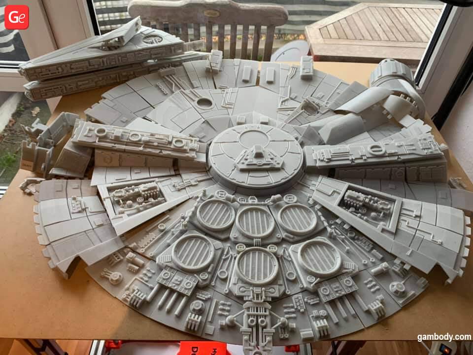 Millennium Falcon Star Wars 3D printing models December trends