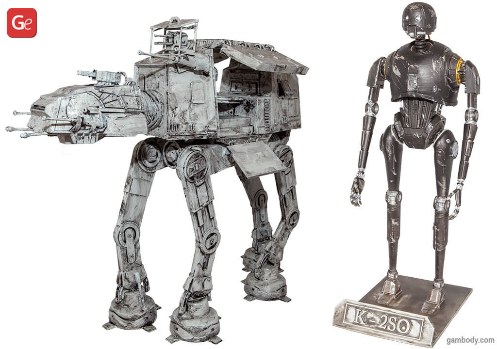 AT-AT Walker and K-2SO 3D prints