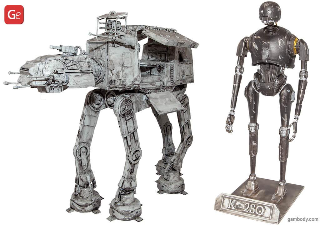 AT-AT Walker and K-2SO 3D prints