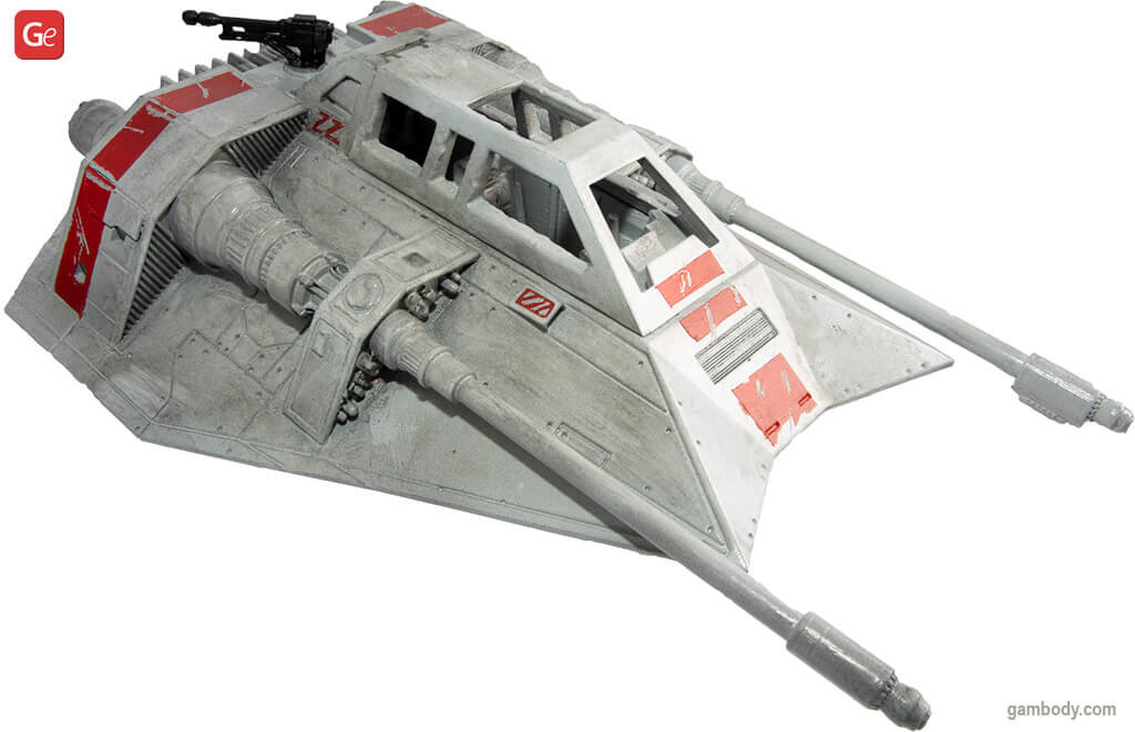 T-47 AirSpeeder model to 3D print