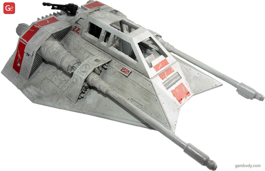 T-47 AirSpeeder model to 3D print