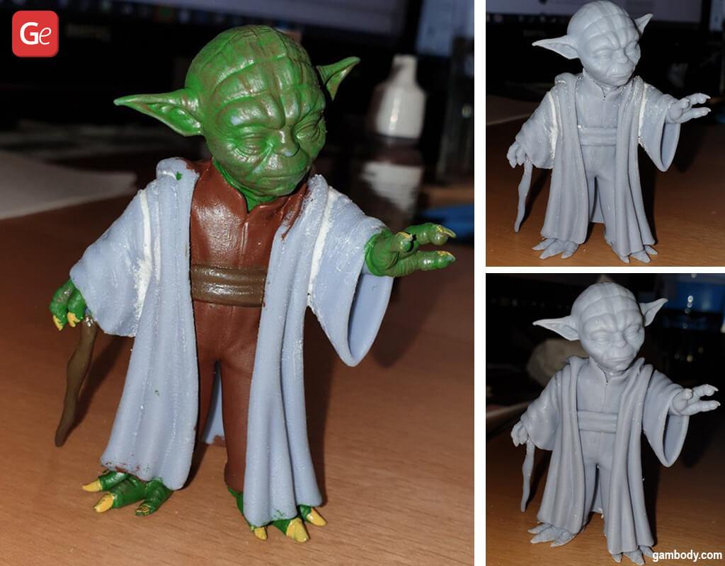 Master Yoda post 3D printing and painting process