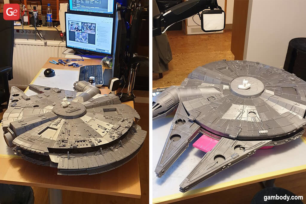 Millennium Falcon starship DIY kit for 3D printers
