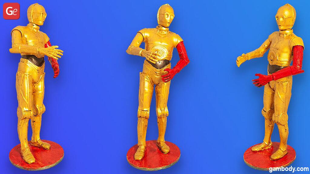 C-3PO 3D printing model from Star Wars