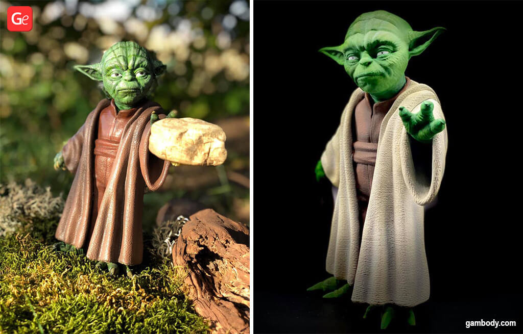 Master Yoda figurine from Star Wars 3D printing models
