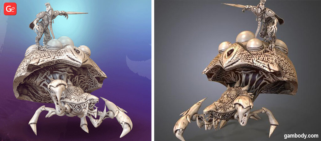 Zerg Swarm Host 3D printing model with STL files