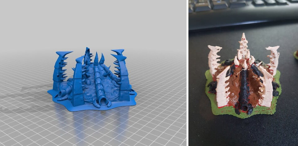 Zerg Hive 3D printing model with STL files
