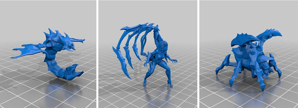 Zerg chess set 3D printing models with STL files