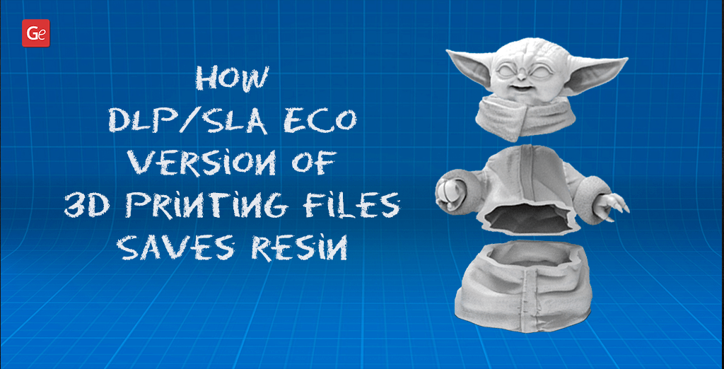 Save resin with DLP/SLA Eco Version of 3D Printing Files