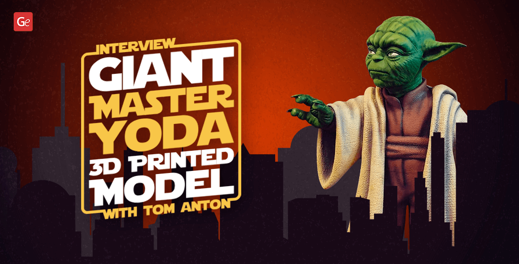 Details about giant Master Yoda 3D printed model