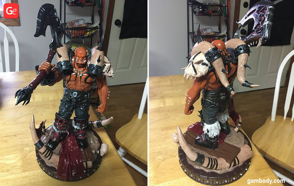 Garrosh figurine coolest 3D prints January trends
