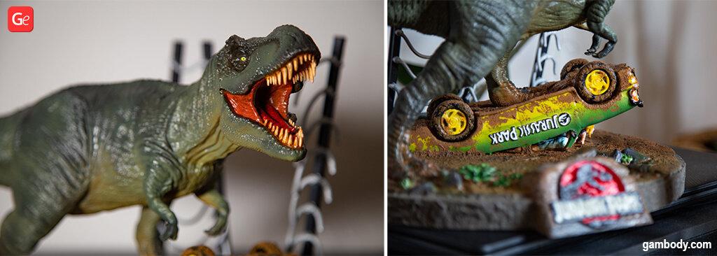 T-Rex 3D printing model from Jurassic Park