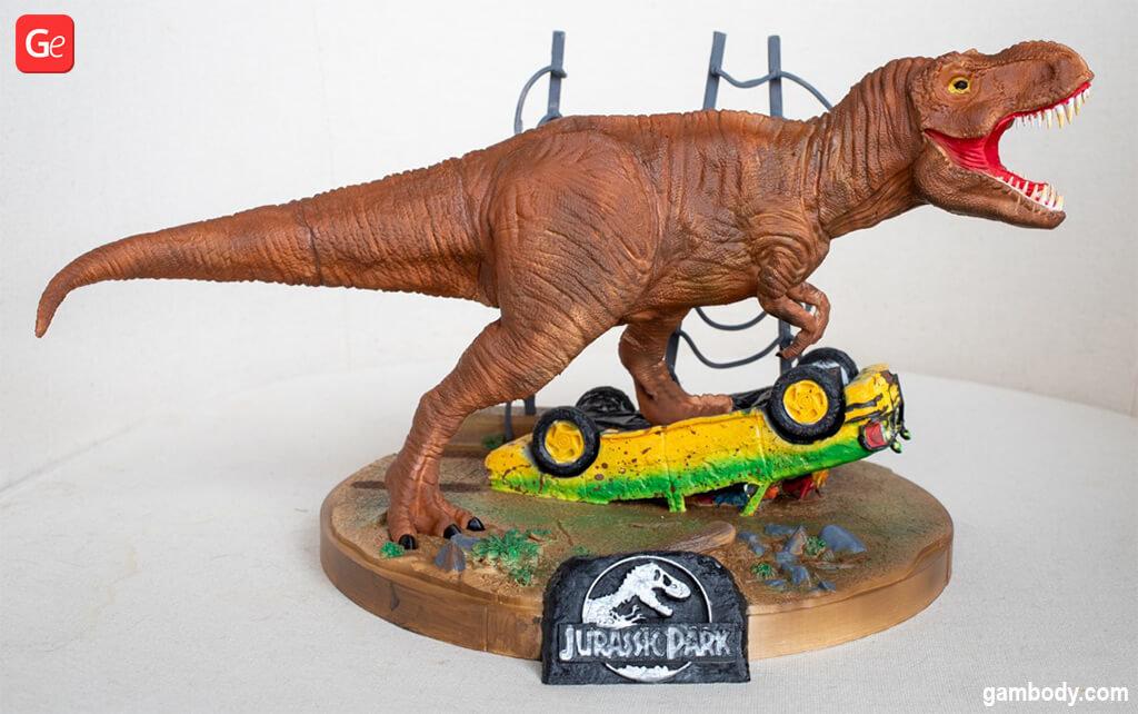 Tyrannosaurus 3D printing model Jurassic Park diorama