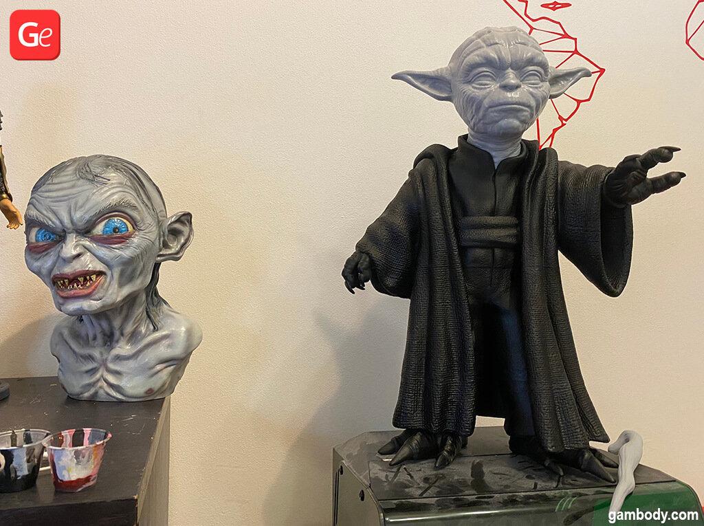 Giant Master Yoda 3D printed model at 57 cm
