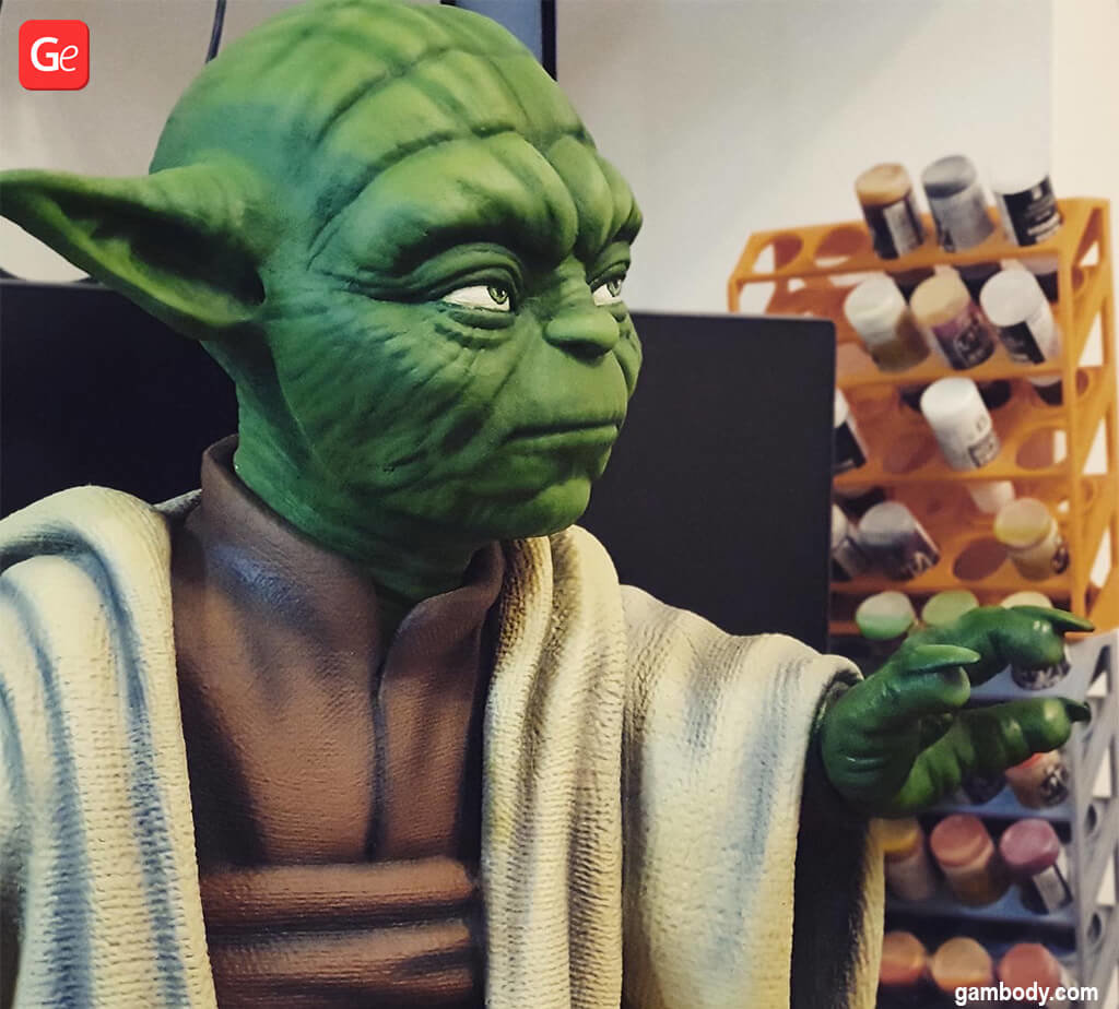 Tips on how to paint Master Yoda 3D printed model