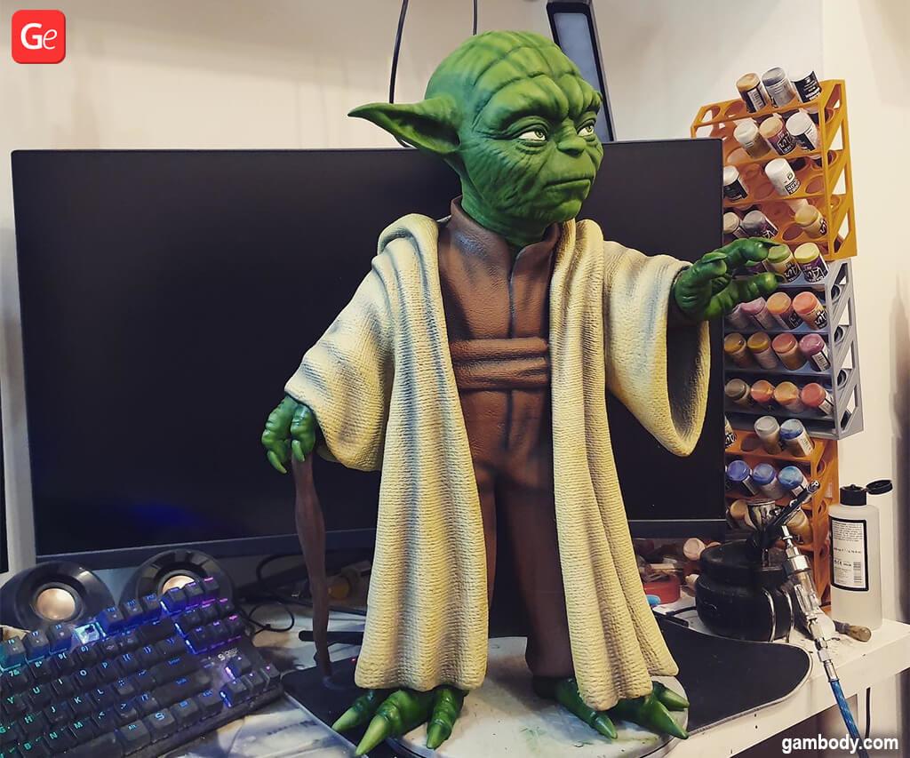 Best Master Yoda 3D printed model (figurine)