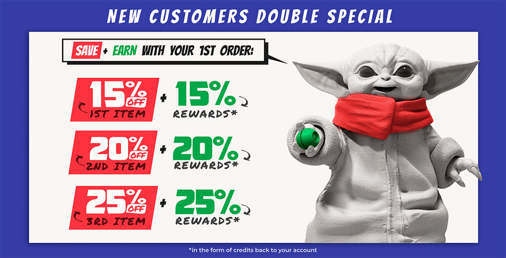 New Customers Double Special campaign on Gambody 3D printing marketplace