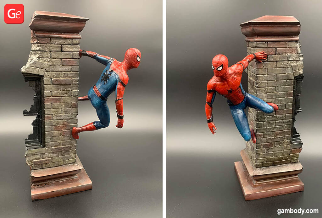 Spider-Man crawling the wall 3D printed figurine January 3D printing trends 2020